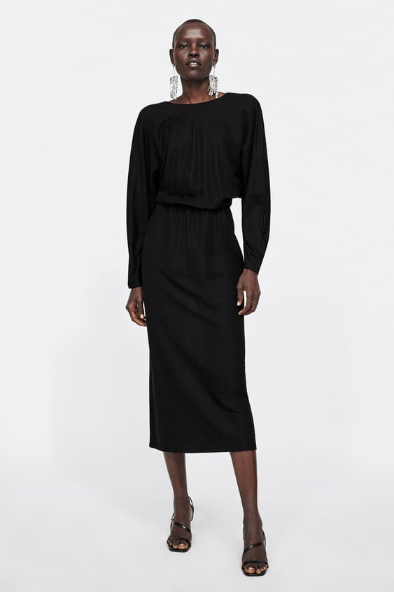 Dress With Low  Cut Back View All Dresses Woman by Zara