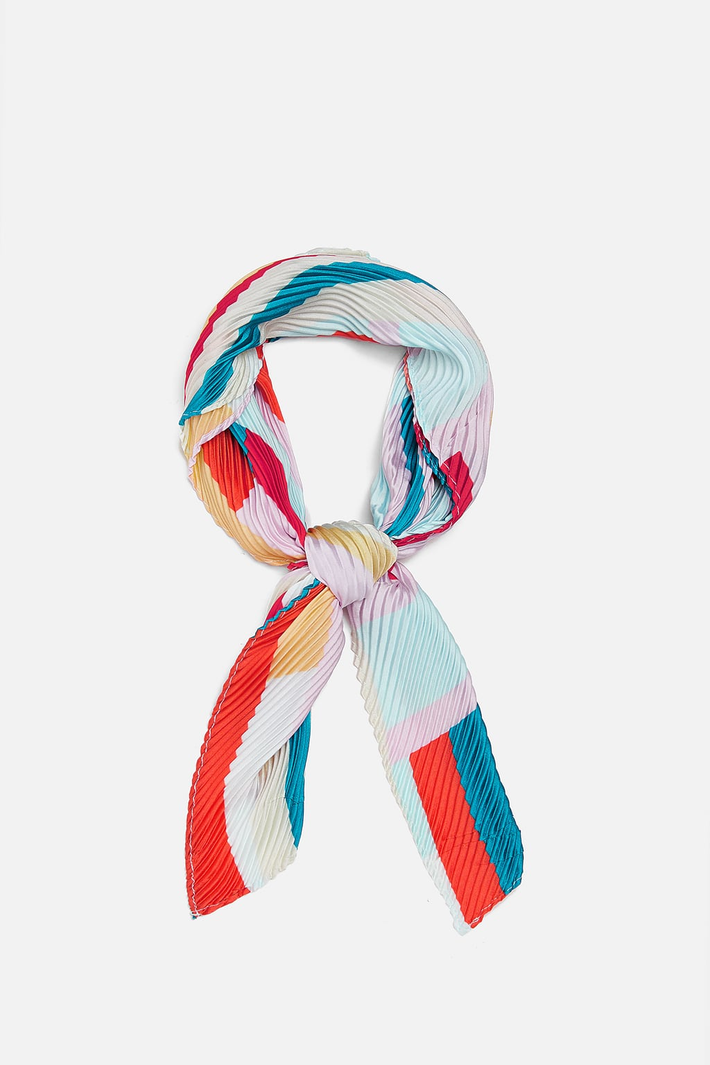 Image 1 of PRINTED PLEATED SCARF from Zara