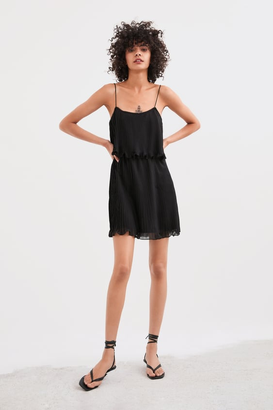 Pleated Dress With Straps View All Dresses Woman by Zara