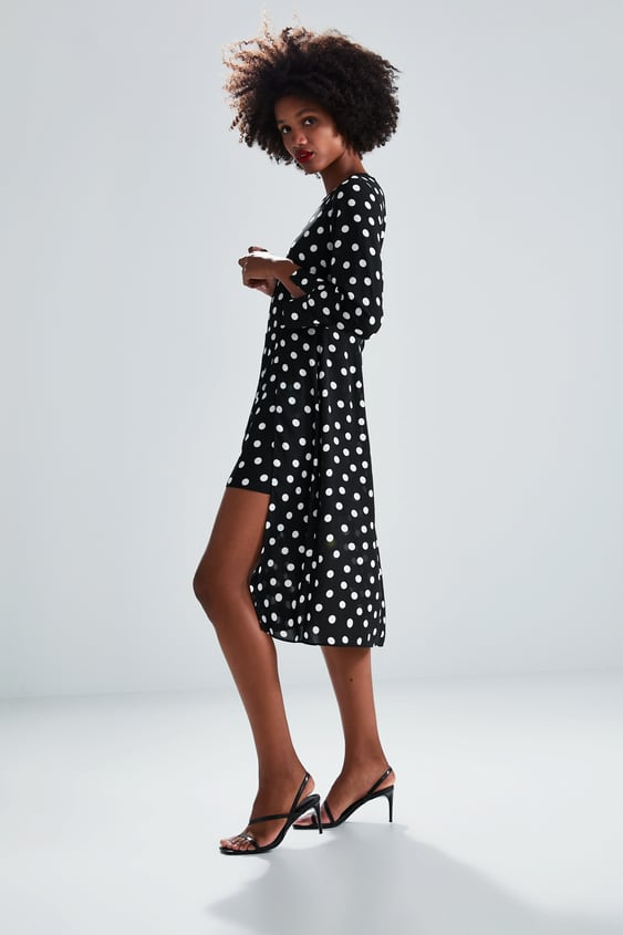 2bf310face POLKA DOT JUMPSUIT DRESS - View all-DRESSES-WOMAN