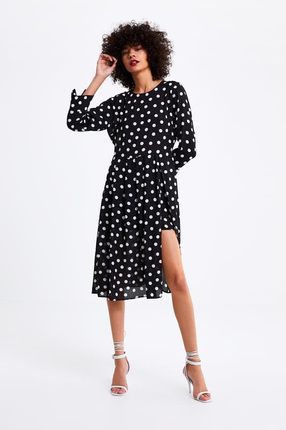 entrega gratis verdadero negocio proporcionar un montón de Shoptagr | Mono Vestido Lunares Vestidos by Zara