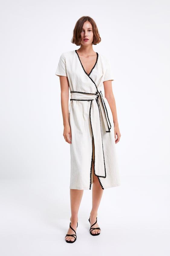 233dbcb6a5c9c DRESS WITH TOPSTITCHING - Maxi-DRESSES-WOMAN