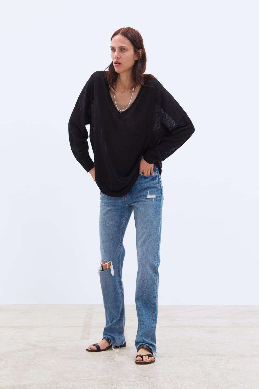 Zwarte Korte Trui.Dames Sweaters Nieuwe Collectie Online Zara Nederland