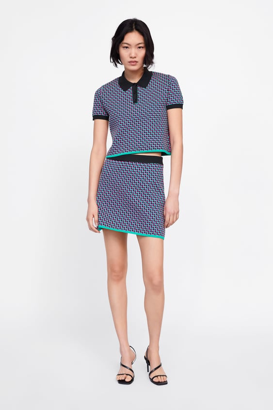 a8151264a899 GEOMETRIC JACQUARD KNIT MINI SKIRT - CO-ORD SETS-WOMAN | ZARA Australia