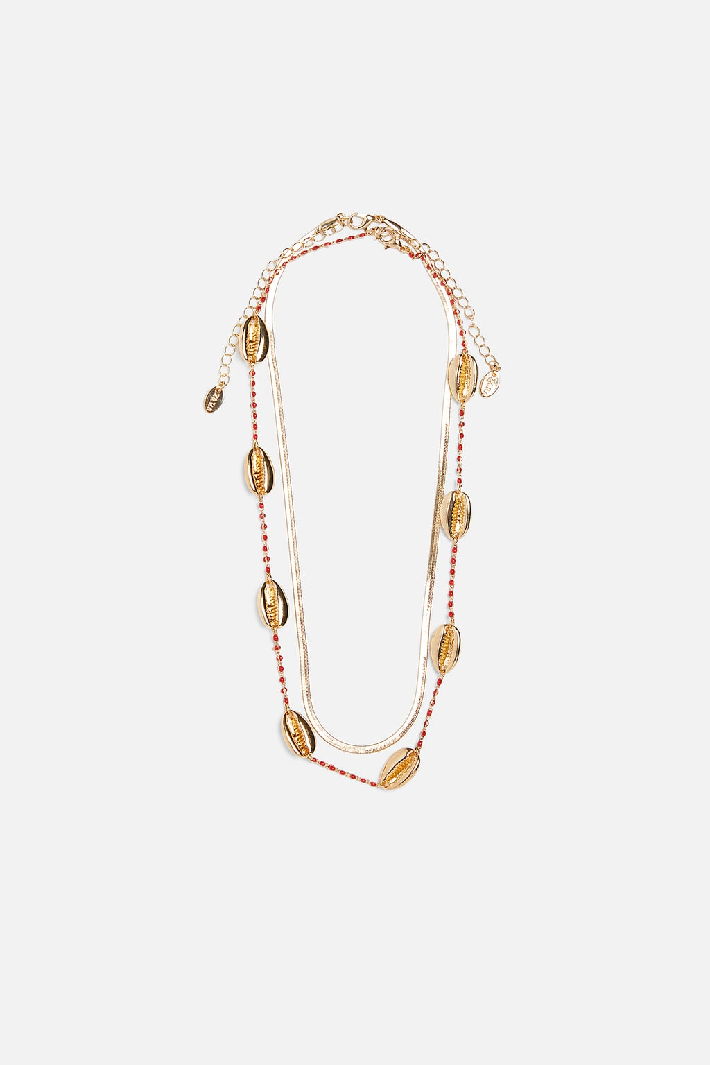Image 1 of PACK OF 2 SHELL NECKLACES from Zara
