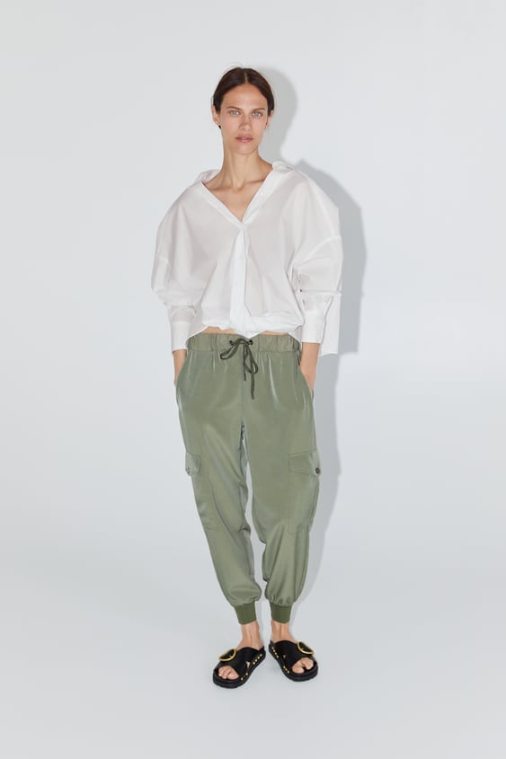 2c9b592b JOGGING TROUSERS WITH POCKETS - TROUSERS-WOMAN-NEW COLLECTION | ZARA ...