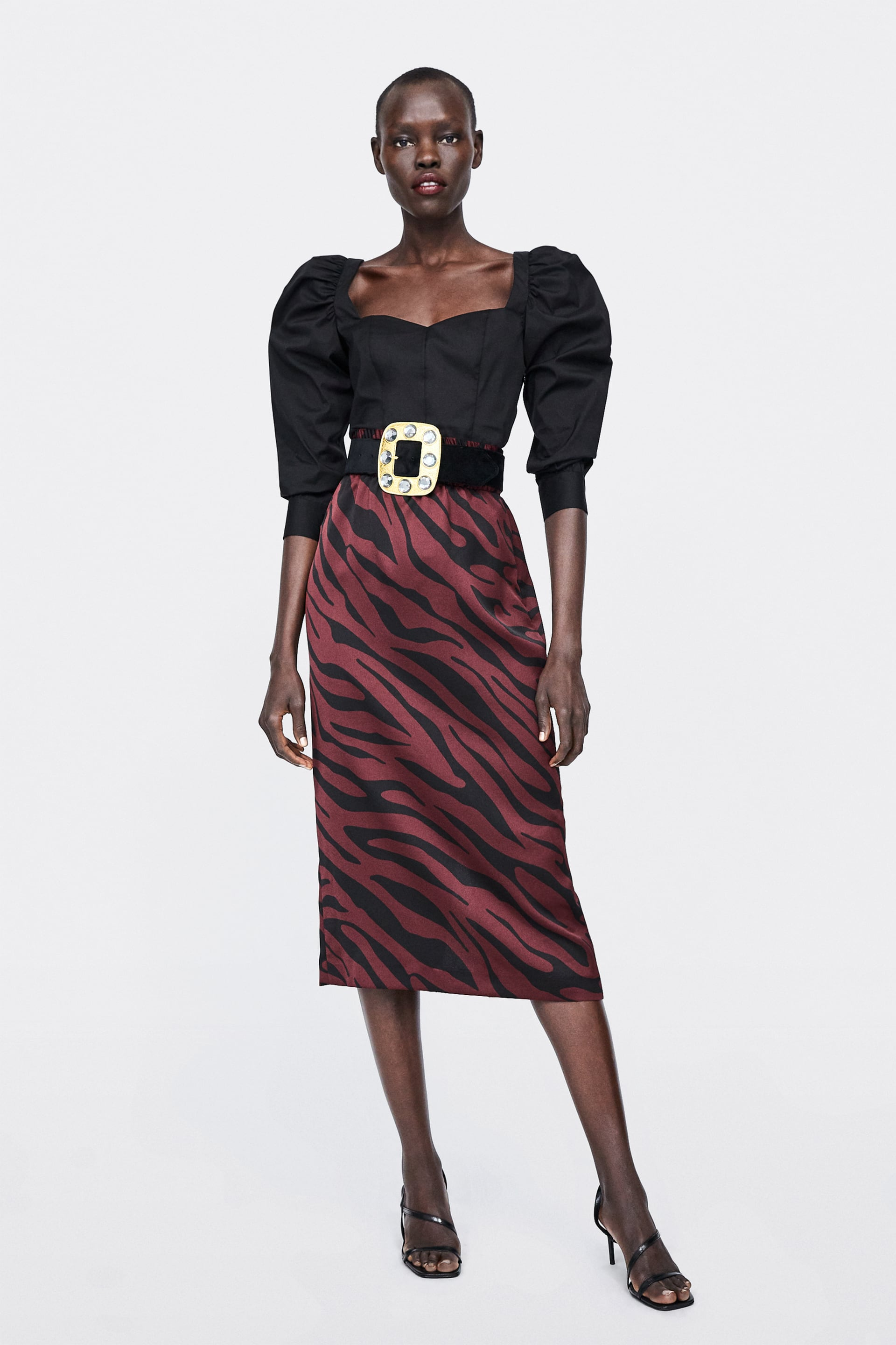 3866a93d9 ANIMAL PRINT PENCIL SKIRT - Midi-SKIRTS-WOMAN | ZARA Georgia