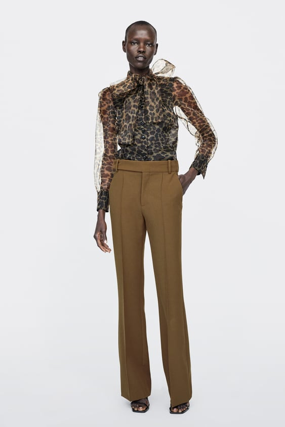 Animal Print Blouse With Tie  Best Sellerswoman by Zara