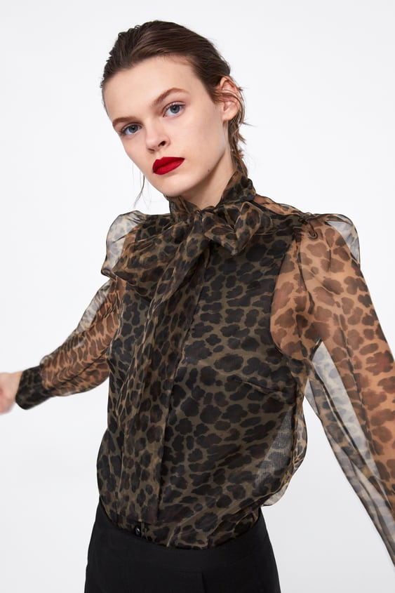 40dc49fd ANIMAL PRINT BLOUSE WITH BOW - View All-SHIRTS | BLOUSES-WOMAN ...