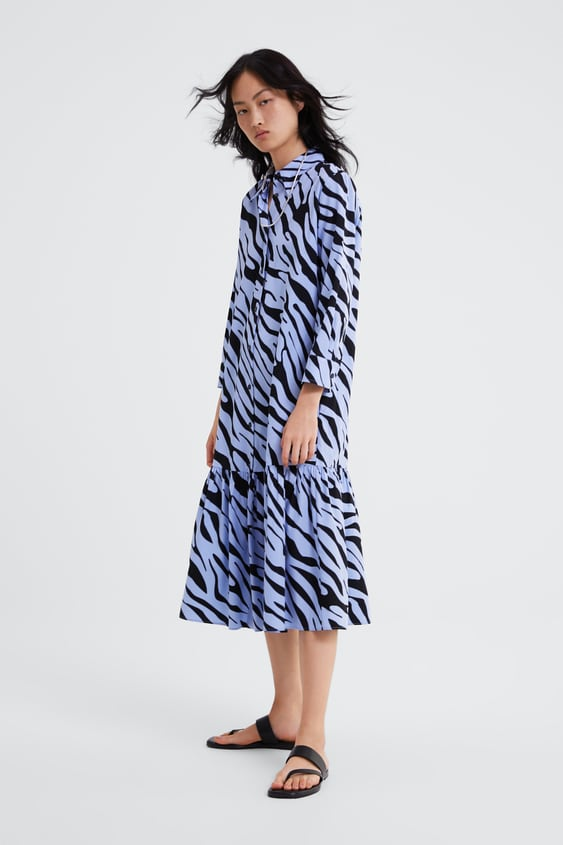 ANIMAL PRINT SHIRT DRESS - Midi-DRESSES-WOMAN  3d425792b