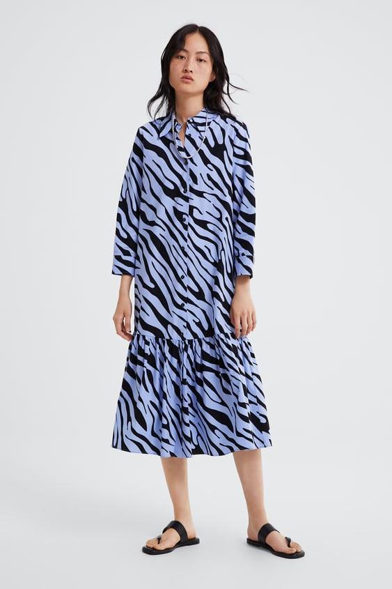 1187dfef23f ANIMAL PRINT SHIRT DRESS - View all-DRESSES-WOMAN