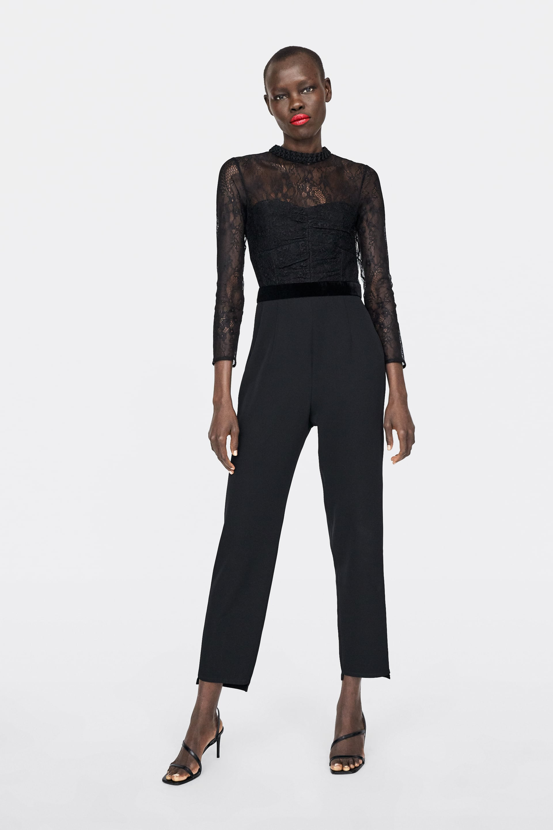 Contrast Lace Jumpsuit  Must Havewoman by Zara