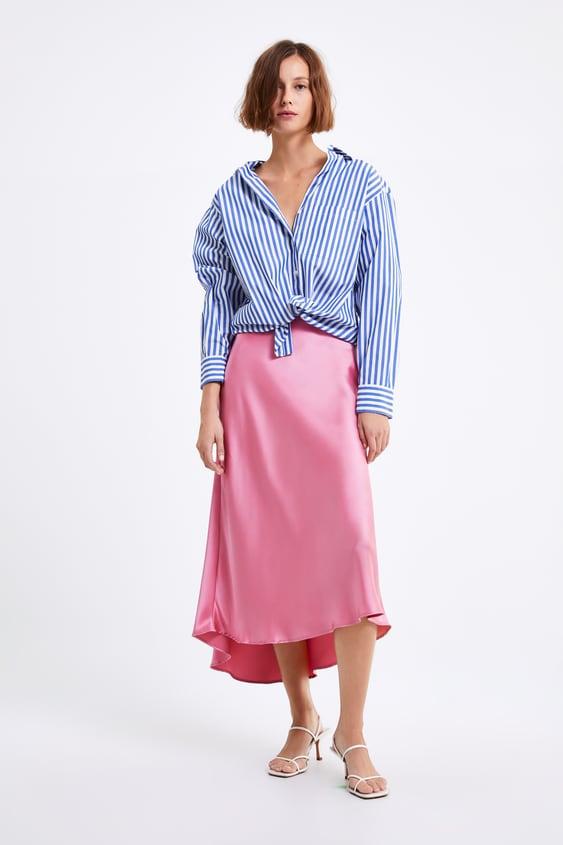 361ad2b1 STRIPED POPLIN SHIRT - Shirts-SHIRTS | BLOUSES-WOMAN-SALE | ZARA ...
