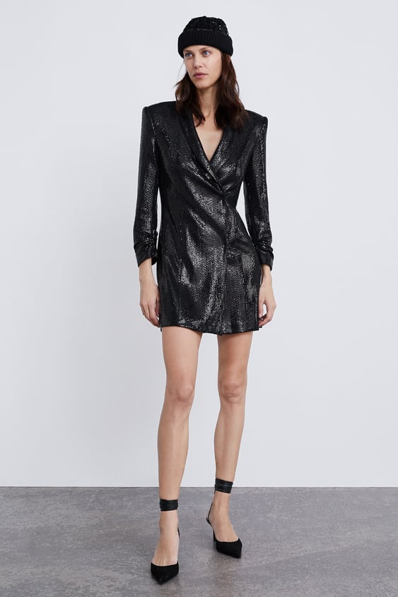 08d1cf17a58b SHINY BLAZER DRESS - View all-DRESSES-WOMAN | ZARA United Kingdom