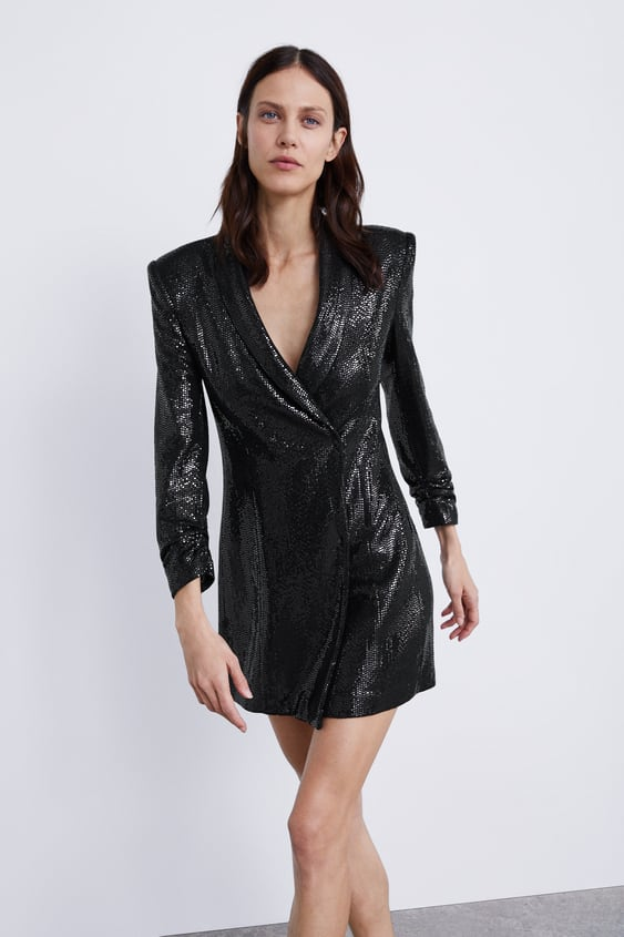 95635640da7 SHINY BLAZER DRESS - View all-DRESSES-WOMAN