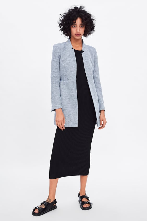 Image 1 Of INVERTED LAPEL FROCK COAT From Zara