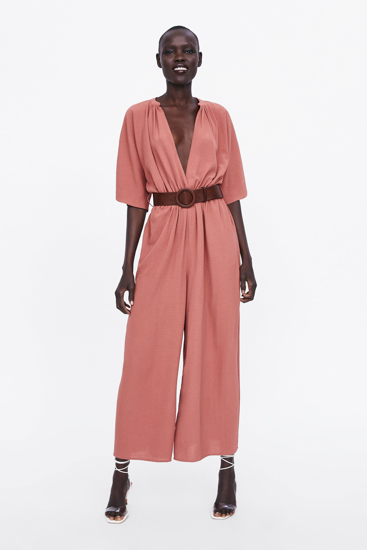c00d83ce69 Zara White And Blue Striped Jumpsuit - raveitsafe