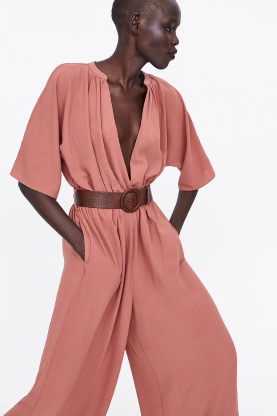 80049ba2407 Image 2 of WRAP JUMPSUIT WITH BELT from Zara