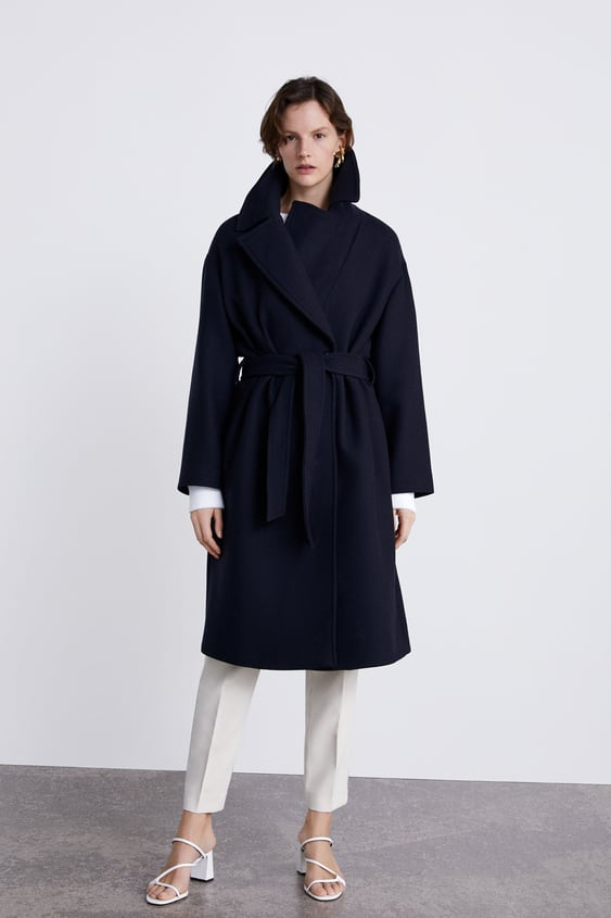 Coat With Belt  Collection Timeless Woman Corner Shops New Collection by Zara