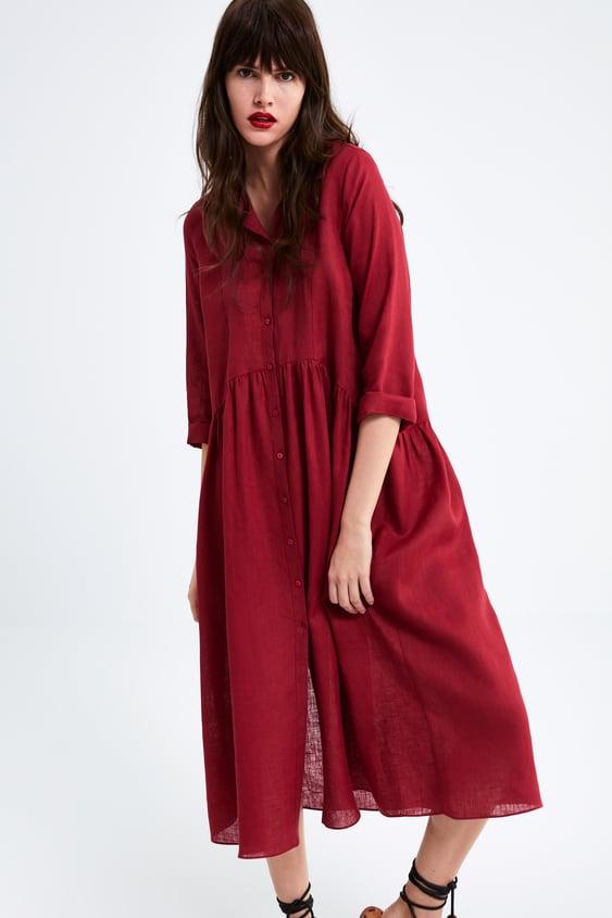 Shirt Dress Dresses Woman Zara United Kingdom