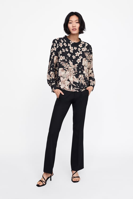 Floral Print Top  View All Shirts by Zara
