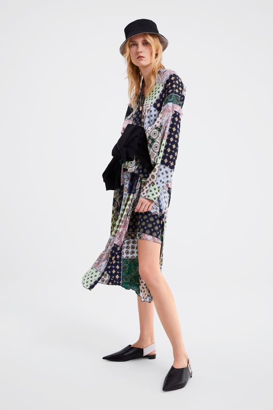 Patchwork Printed Shirt  Coord Sets Woman by Zara