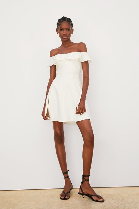 Vestido Curto Com Folho Ver Tudo Vestidos Mulher by Zara