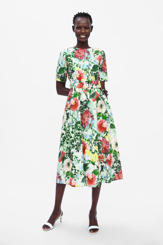 45486ced6e FLORAL PRINT DRESS - Midi-DRESSES-WOMAN-SALE | ZARA United States
