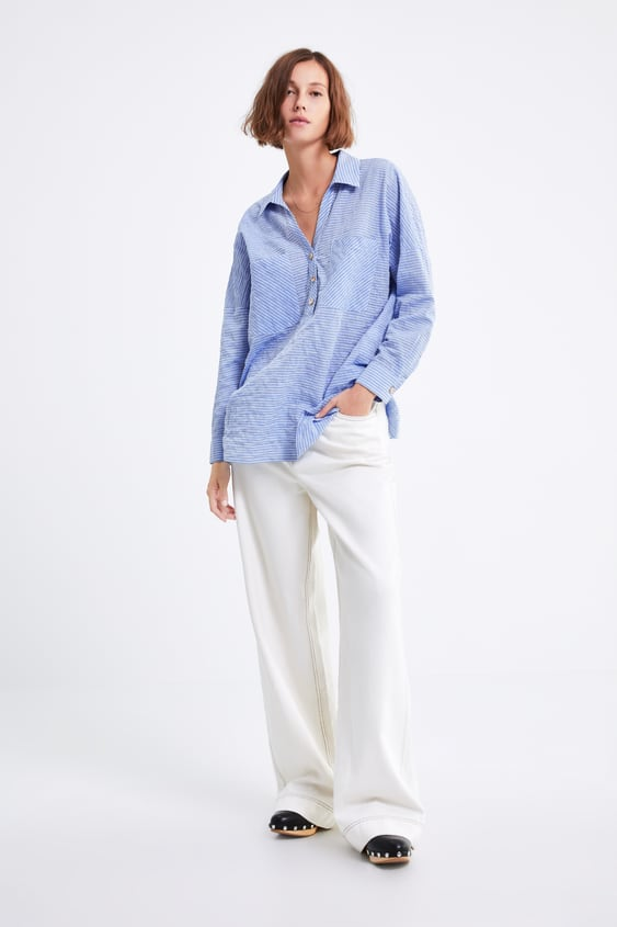 20123754ea OVERSIZED STRIPED SHIRT - Shirts-SHIRTS | BLOUSES-WOMAN-SALE | ZARA ...