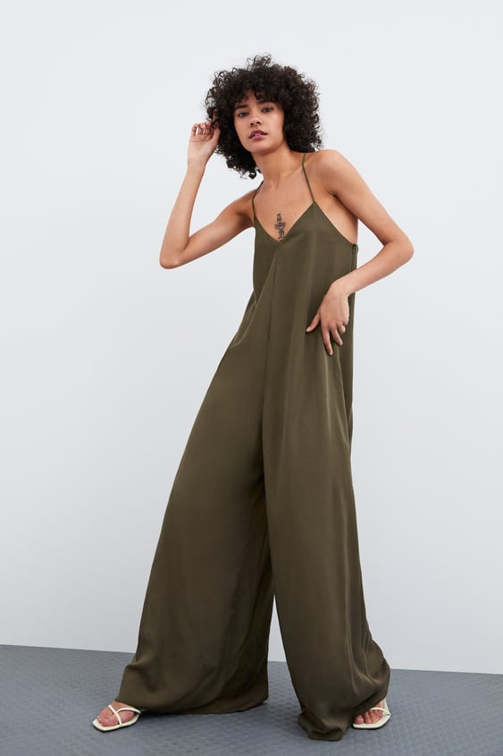 14882e0f3c9 Image 1 of LONG FLOWING JUMPSUIT from Zara