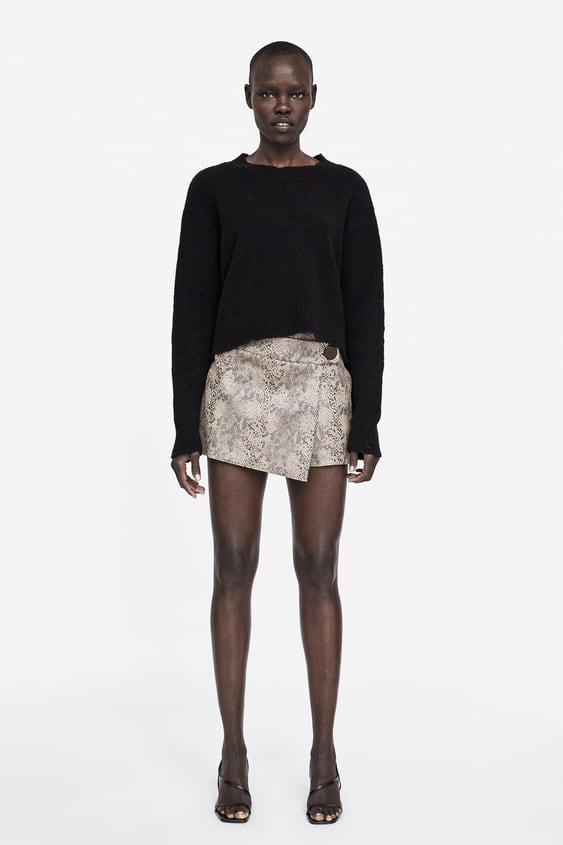 b3c35ed9f SNAKESKIN PRINT SPLIT SKIRT - Prints-SHORTS-WOMAN-SALE | ZARA United ...
