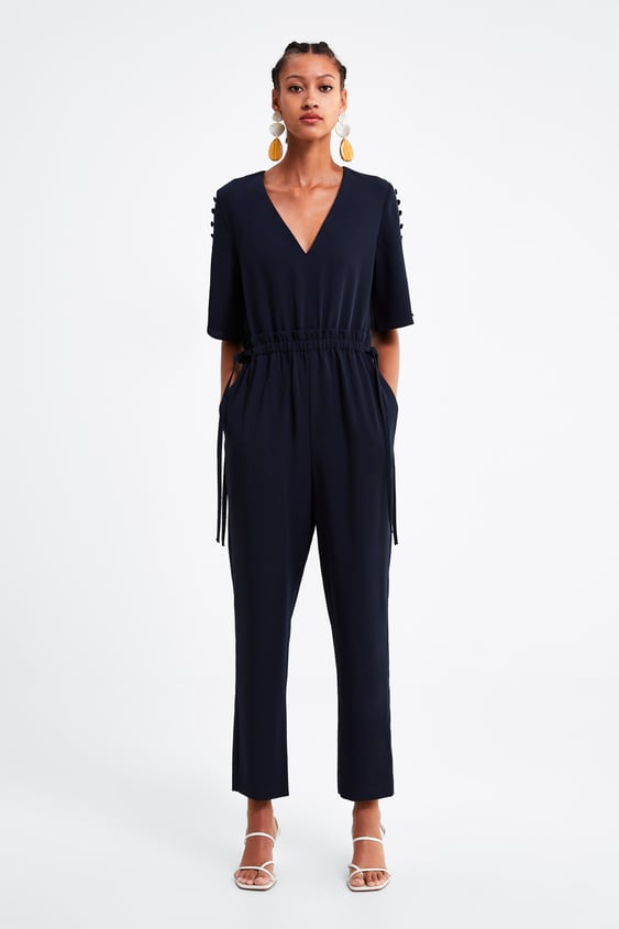 Buttoned Jumpsuit  View All Dresses Woman by Zara