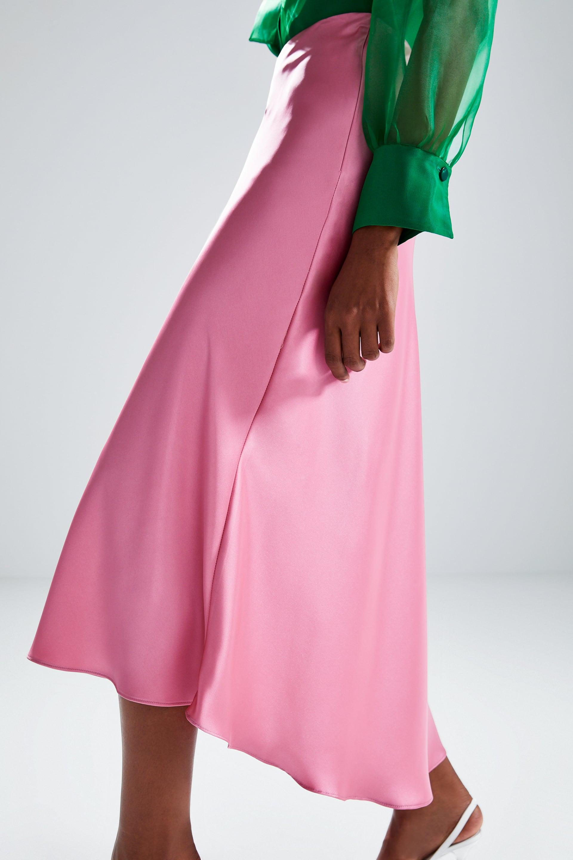 Image 5 di GONNA SATINATA di Zara