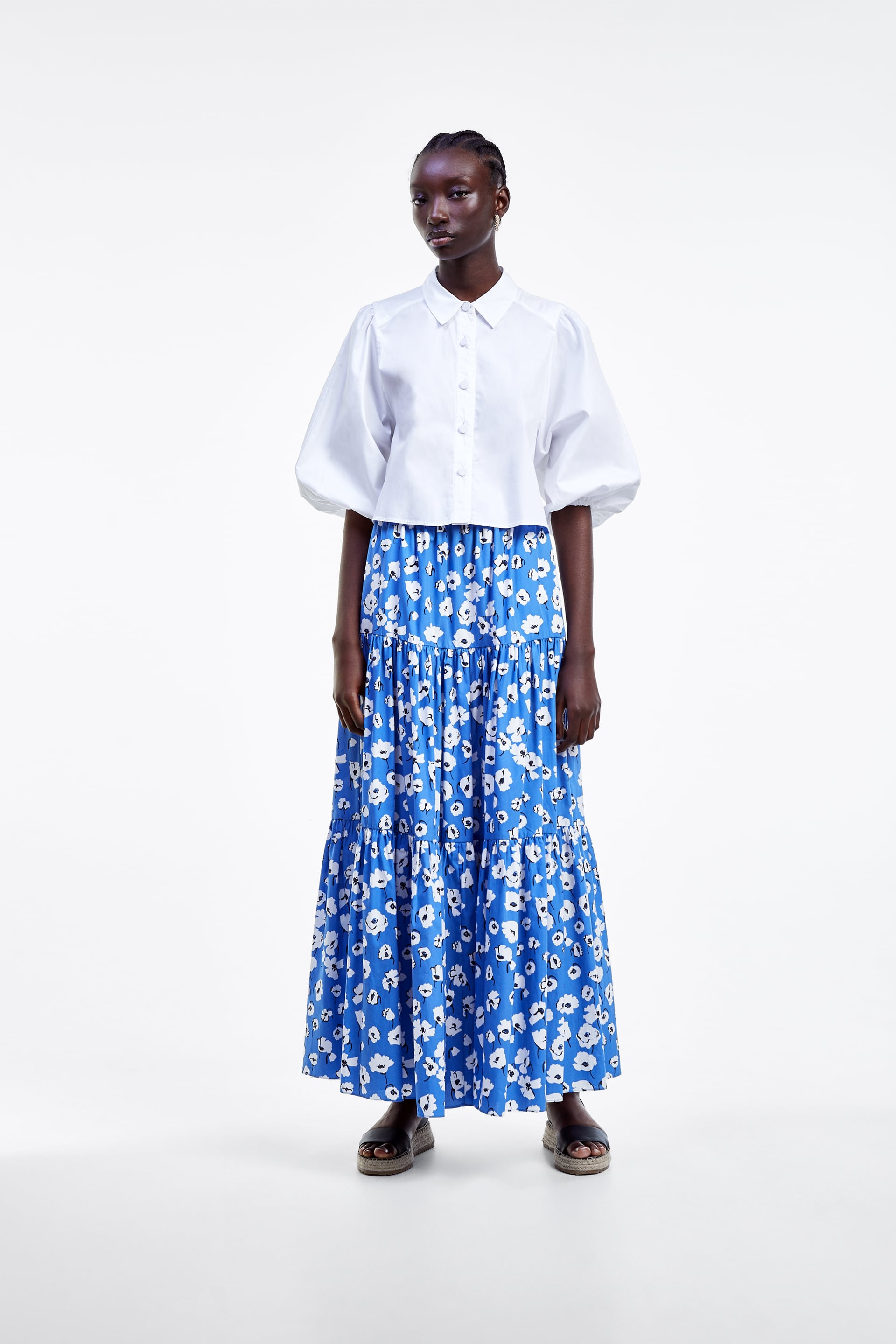 Image 1 of FLORAL PRINT SKIRT from Zara