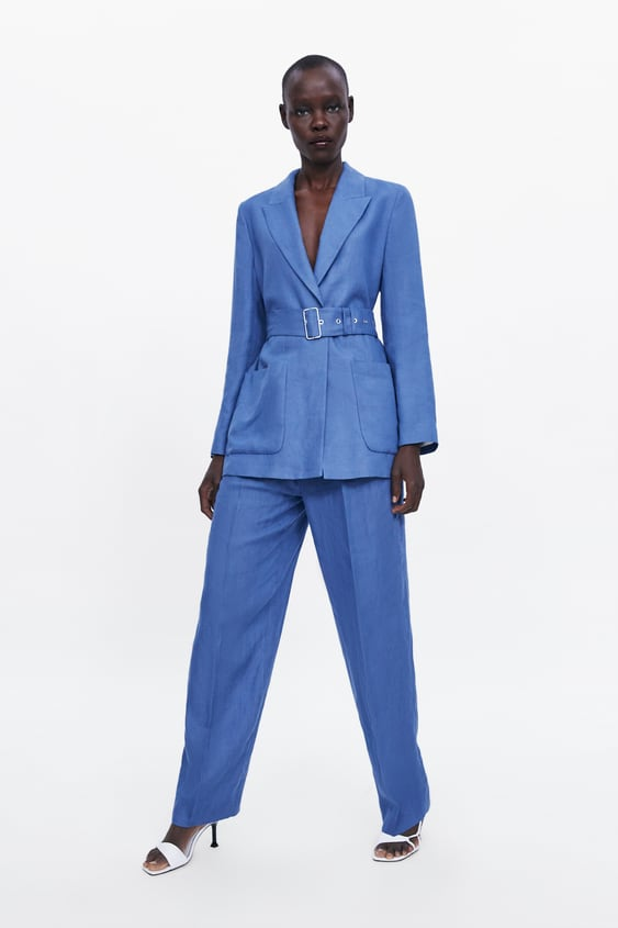 Linen Trousers With Darts  Suitswoman by Zara