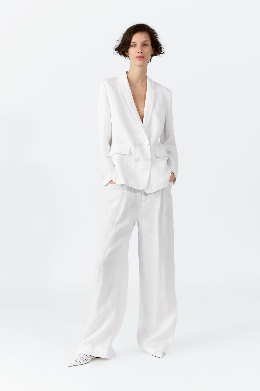 Buttoned Linen Blazer  Linenwoman by Zara