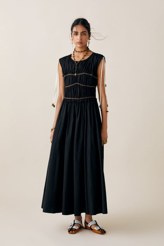 50a1fa06391 Image 1 of LIMITED EDITION ZARA STUDIO DRESS WITH CONTRASTING PIPING from  Zara
