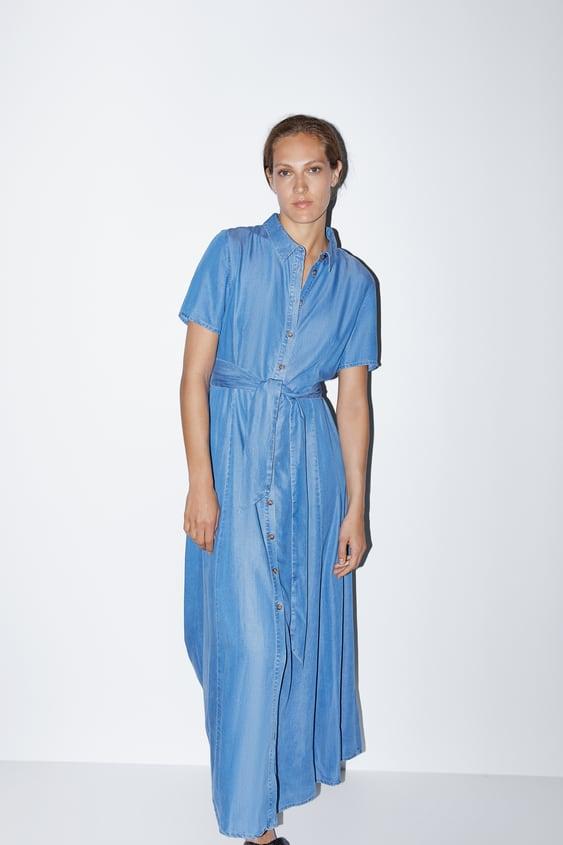 fe57d7e4769 LONG DRESS WITH BELT