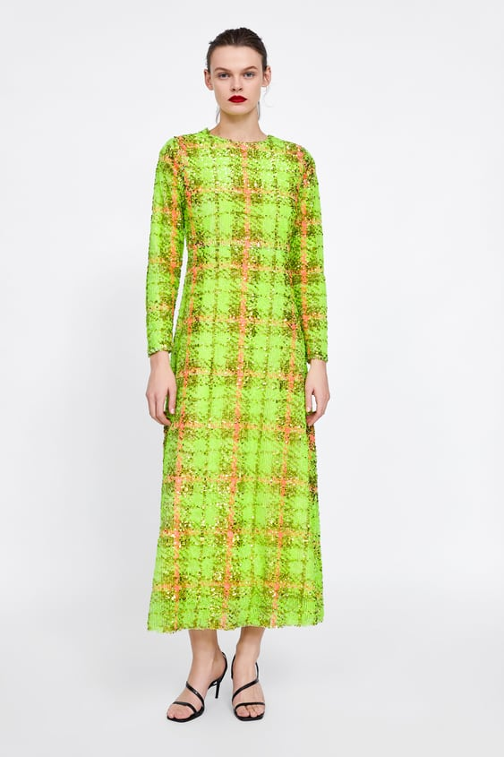 Limited Edition Sequin Plaid Dress  View All Dress Time Woman Corner Shops by Zara