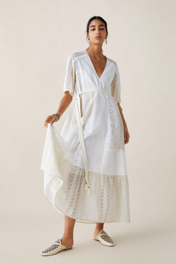 486eccf8 Image 1 of LIMITED EDITION ZARA STUDIO DRESS WITH CUTWORK EMBROIDERY from  Zara