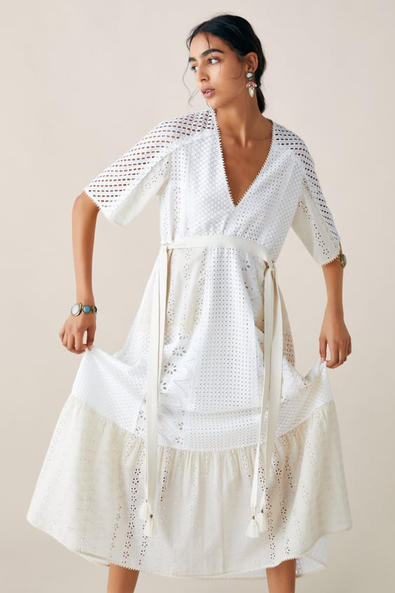 32fa653f250 Image 2 of LIMITED EDITION ZARA STUDIO DRESS WITH CUTWORK EMBROIDERY from  Zara