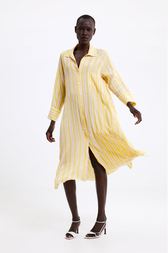 02d6aefa STRIPED DRESS WITH POCKET - Shirt dress-DRESSES-WOMAN | ZARA Israel