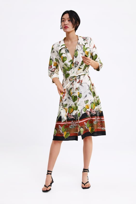 Floral Print Dress  View All Dresses Woman by Zara