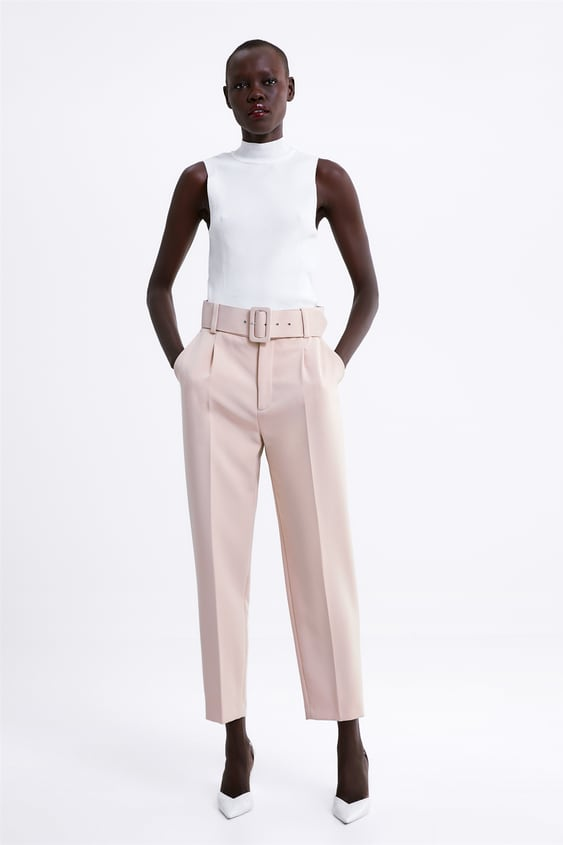 0d3a667d DARTED TROUSERS WITH BELT - Smart-TROUSERS-WOMAN-SALE | ZARA United ...