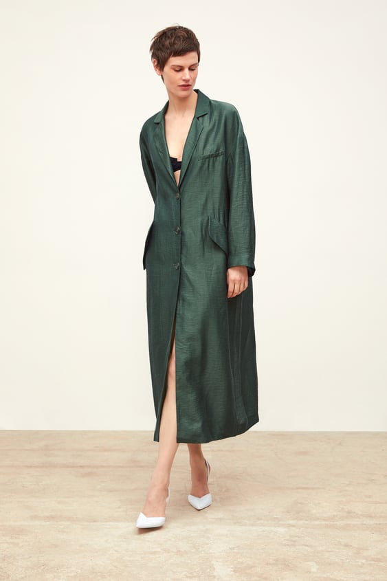 Flowy Trench Coat With Pockets  View All Coats Woman by Zara