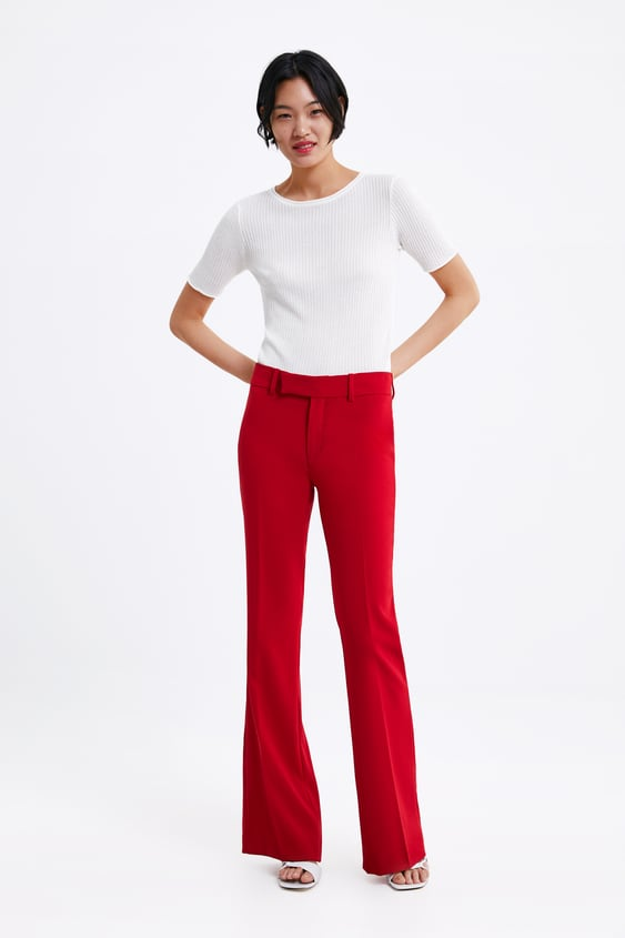 enorme sconto 252df a5845 FLARED TROUSERS