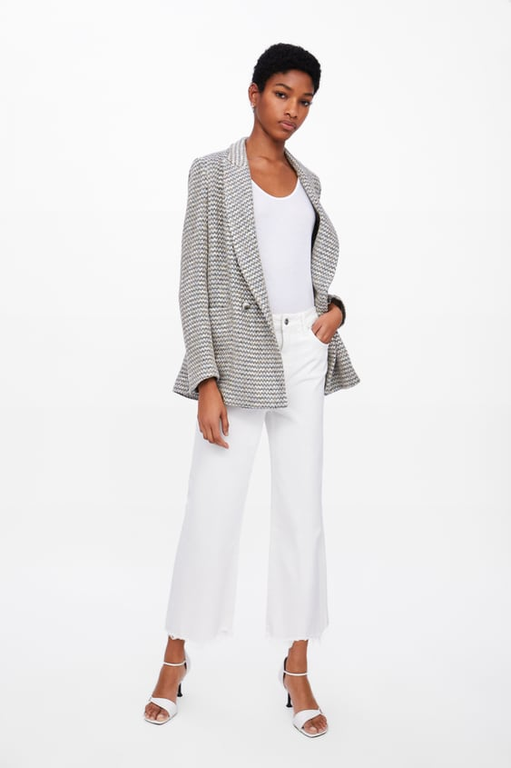 e5f98f6609d Image 1 of TEXTURED DOUBLE BREASTED BLAZER from Zara