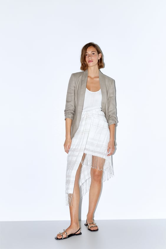 98ef0df35d ASYMMETRIC SKIRT WITH FRINGING - Mini-SKIRTS-WOMAN-SALE | ZARA ...
