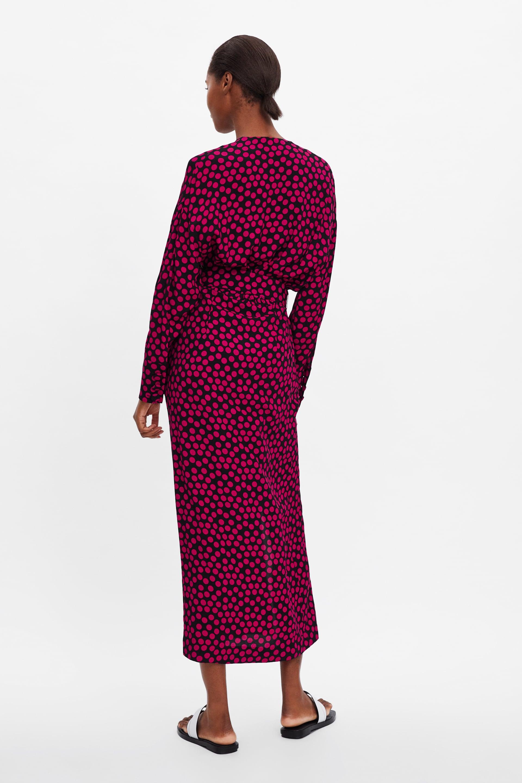 26dd0ccd Zara Crossover Dress With Pockets
