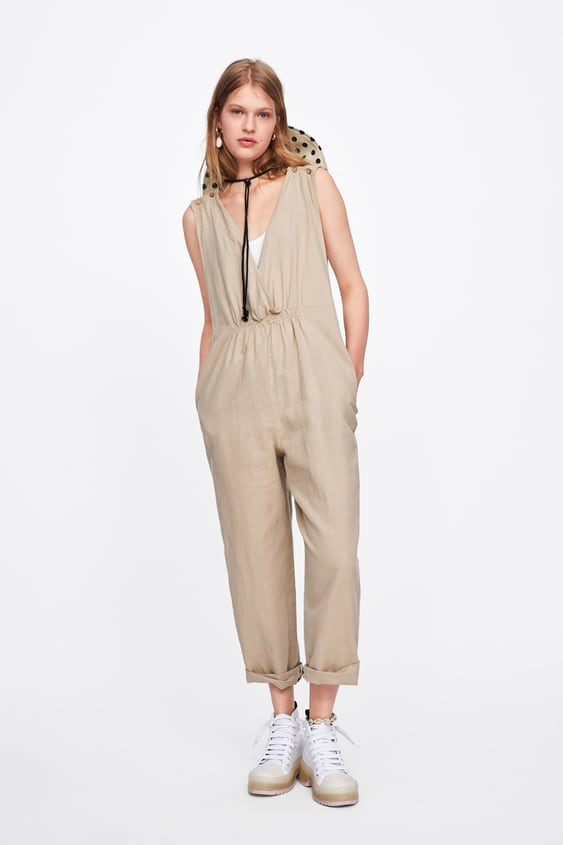 485cfa42f51e Image 1 of GATHERED JUMPSUIT WITH STRAPS from Zara